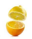 Fresh half lemon Royalty Free Stock Image