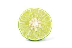 Fresh half of lime on white background Stock Photo