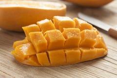 Fresh half yellow mango Stock Images