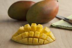 Fresh half yellow mango Royalty Free Stock Photography