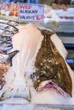 Fresh halibut for sale at Pike Place Market in Seattle Stock Images