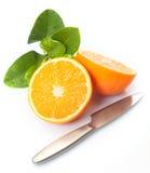 Fresh halved orange Stock Photography