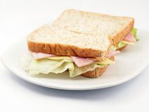 Fresh Ham and cheese sandwich Royalty Free Stock Photo