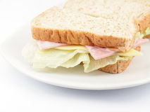Fresh Ham and cheese sandwich Stock Images