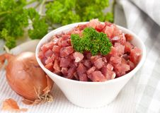 Fresh ham diced Royalty Free Stock Photos