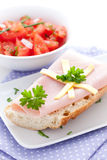 Fresh ham sandwich Royalty Free Stock Images