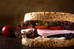 Fresh ham sandwich Royalty Free Stock Photography