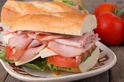 Fresh Ham Sandwich Royalty Free Stock Photo