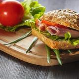 Fresh ham sandwich Royalty Free Stock Photos