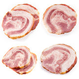Fresh ham slice isolated in white. Collection Stock Image
