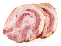 Fresh ham slice isolated in white. Collection Stock Photography