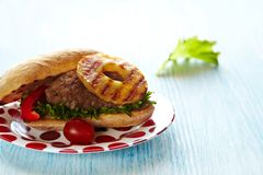 Fresh hamburger Royalty Free Stock Images