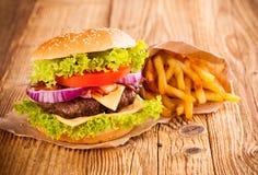 Fresh hamburger Stock Image