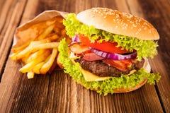 Fresh hamburger Royalty Free Stock Photos
