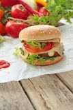 Fresh hamburger Royalty Free Stock Photo