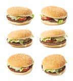 Fresh hamburger isolated Stock Images