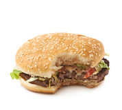 Fresh hamburger isolated Stock Image