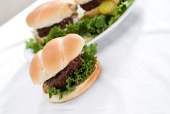 Fresh Hamburgers Stock Image