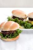 Fresh Hamburgers Stock Images