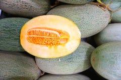 Fresh hami melons / cantaloupes Royalty Free Stock Image