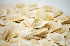 Fresh handmade ravioli Stock Photo