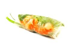 Fresh Handmade Spring Rolls Royalty Free Stock Images