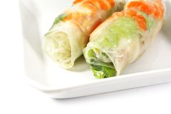 Fresh Handmade Spring Rolls royalty free stock photography