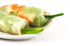 Fresh Handmade Spring Rolls Royalty Free Stock Photos