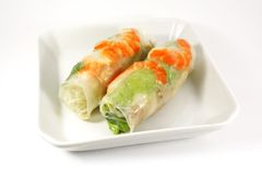 Fresh Handmade Spring Rolls Royalty Free Stock Photo