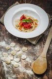 Home made Orecchiette pasta Royalty Free Stock Photos