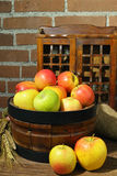 Fresh harvest of organic farm green and red apples Royalty Free Stock Photography