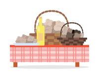 Fresh Harvest of Truffles Flat Vector Concept Stock Images