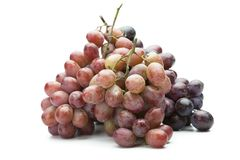 Fresh harvested grapes isolated on white Royalty Free Stock Images