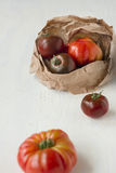 Fresh harvested organic tomatoes Royalty Free Stock Images