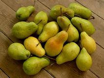 Fresh harvested pears Stock Photo
