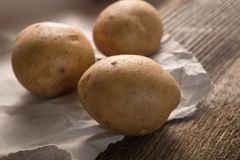 Fresh harvested potatoes Stock Photography