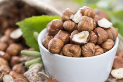 Fresh Hazelnuts Royalty Free Stock Photos