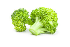 Fresh head of broccoli  on a white background cutout. Broccoli cabbage on a white background. Clipping path Stock Photos