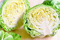 Fresh head of cabbage Royalty Free Stock Image