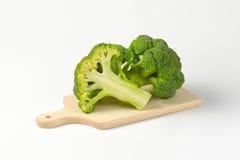 Fresh heads of broccoli Stock Photos