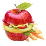 Fresh healthy apple burger or sandwich Royalty Free Stock Image