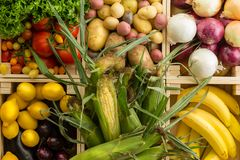 Fresh healthy assorted vegetables background stock images
