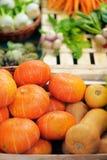 Fresh healthy bio pumpkins Stock Images