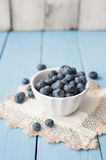Fresh and healthy blueberries and red currant Stock Images