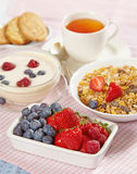 Fresh healthy breakfast. Close up of fresh berries Royalty Free Stock Photo
