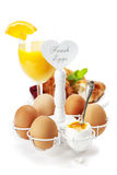 Fresh healthy breakfast with eggs Royalty Free Stock Image