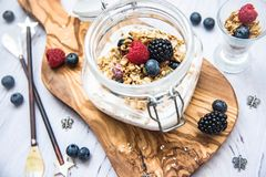 Fresh and healthy breakfast royalty free stock photography