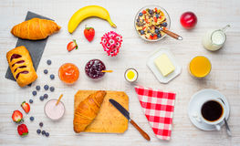 Fresh and Healthy Breakfast royalty free stock images