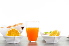 Fresh and healthy breakfast isolated on white Stock Photography