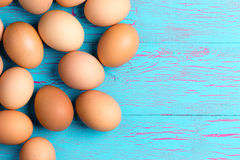 Fresh healthy brown eggs for breakfast Royalty Free Stock Photos